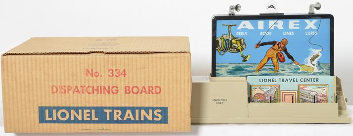 Lionel Postwar O gauge 334 Operating Dispatching Board with Original Box