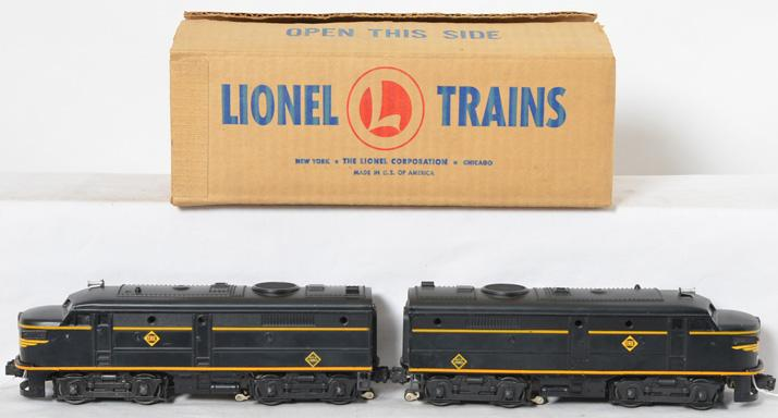 Lionel Postwar O gauge 2032 Erie Alco A-A Units in a Brick Master Carton Box