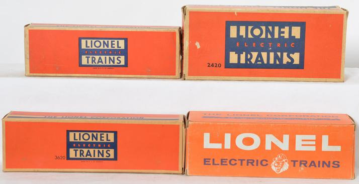 Lionel Postwar O gauge 6014-335 6562-25 2420 and 3620 Empty Original Boxes
