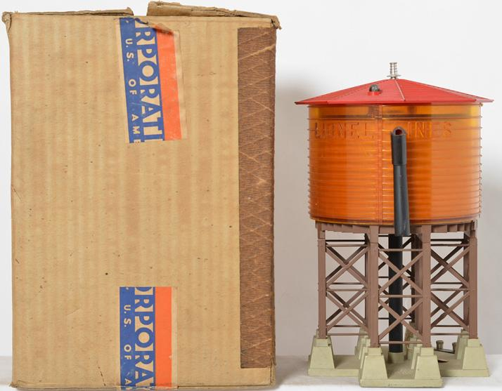 Lionel Postwar O gauge 38 Operating Water Tower with Original Box
