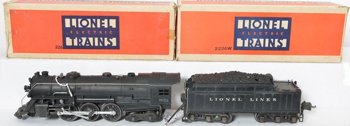 Lionel prewar O gauge 226E/2226W Locomotive and Tender with Original Boxes