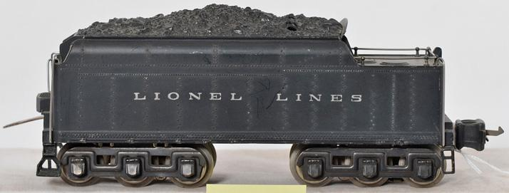 Lionel prewar O gauge 2226W twelve wheel whistle tender