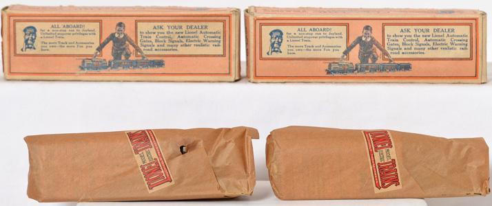 2 Lionel prewar O gauge 043 Bild-A-Motor Set Factory Sealed with Orignal Boxes