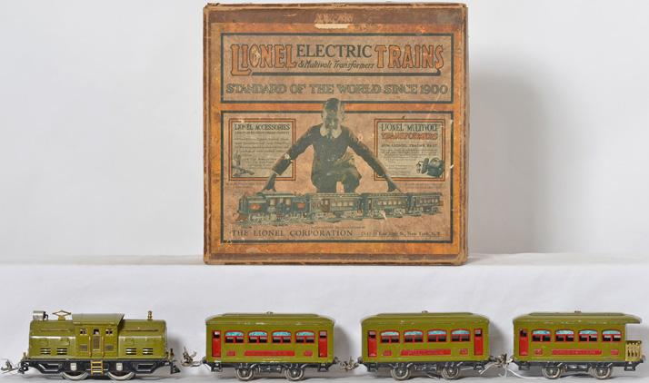 Lionel prewar O gauge 294 Passenger Set W/ 252 529 529 530 Passenger Cars