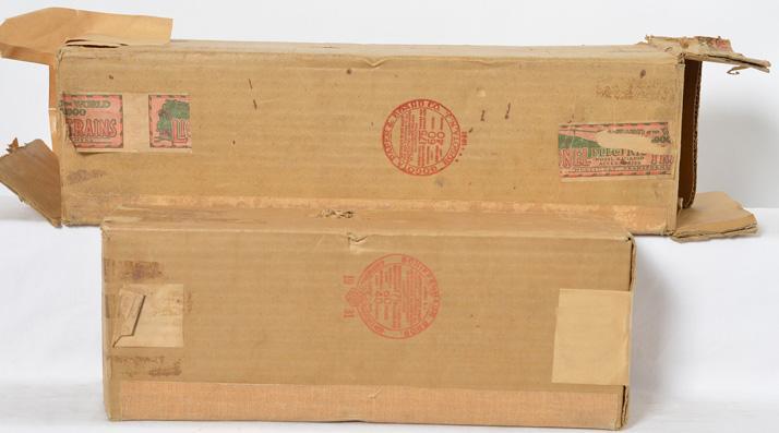 Lionel prewar standard gauge 400E Blue comet Locomotive & 400T Tender Original Boxes