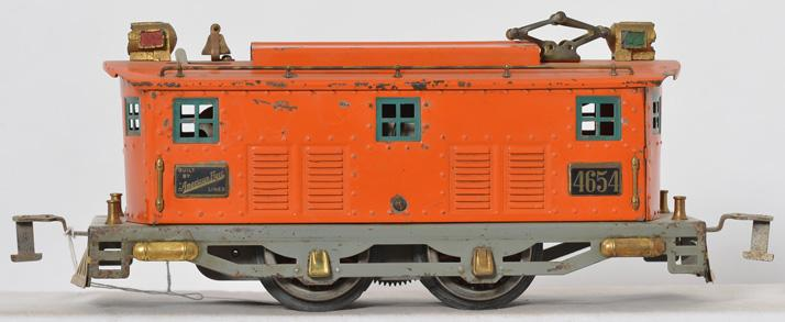 American Flyer Wide Gauge 4654 orange boxcab locomotive