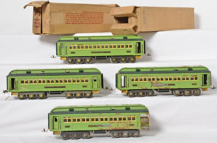 4 Lionel standard gauge Stephen Girard passenger cars 425, 425, 424, 426