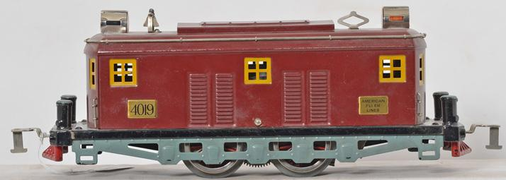 American Flyer prewar wide gauge 4019 maroon locomotive