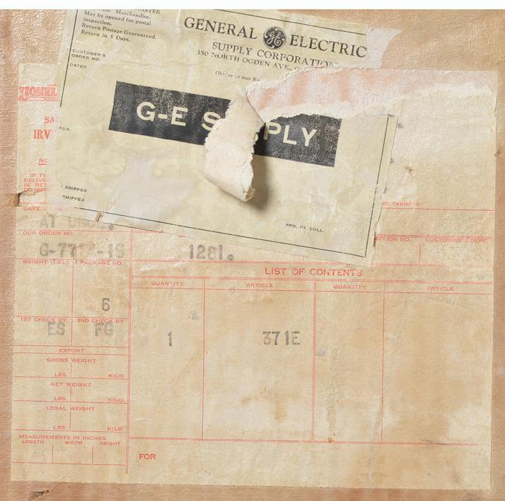 Lionel prewar standard gauge 371E shipping carton