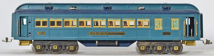 Lionel standard gauge 421 Westphall Blue Comet passenger car