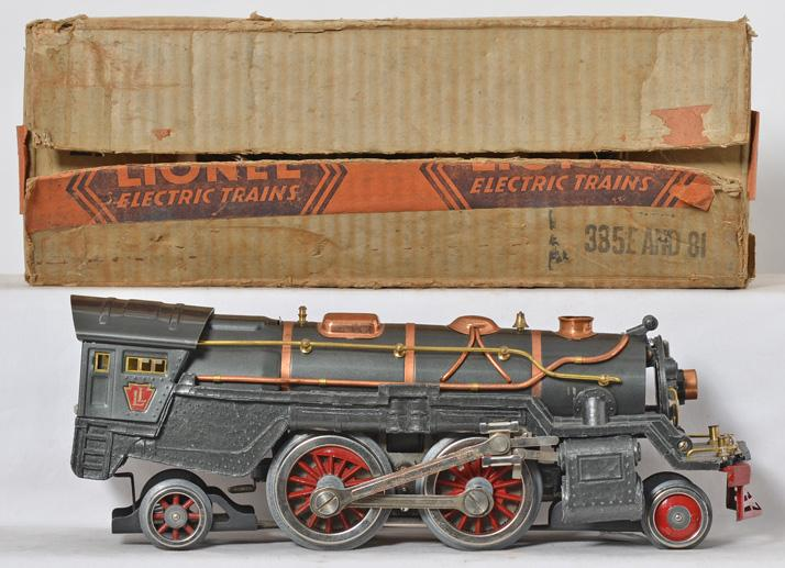 Lionel standard gauge gunmetal gray 385E steam locomotive only