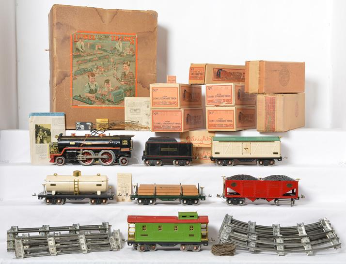 Boxed Lionel 363E standard gauge freight set with 390E, 514, 517, 515, etc