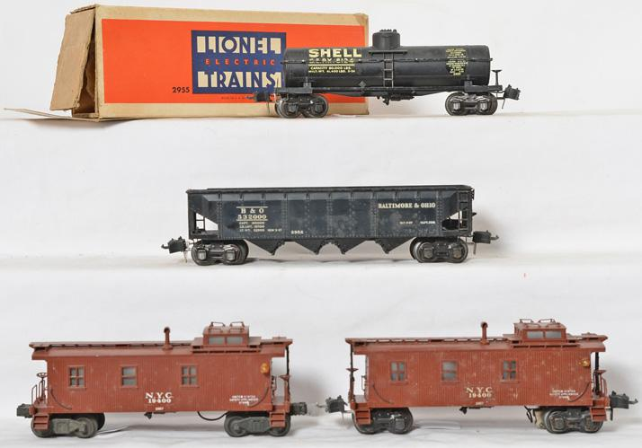 Lionel 2955, 2956, 2957, 2957 scale freight cars
