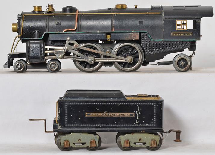 American Flyer wide gauge 4680 steam locomotive with 4671 tender