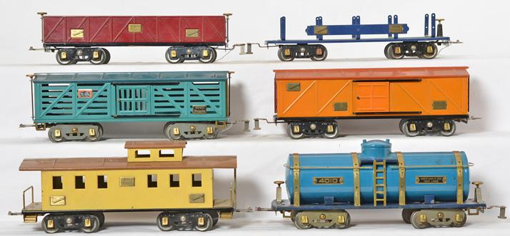 American Flyer wide gauge freight cars 4010, 4008, 4020, 4007, 4012, etc