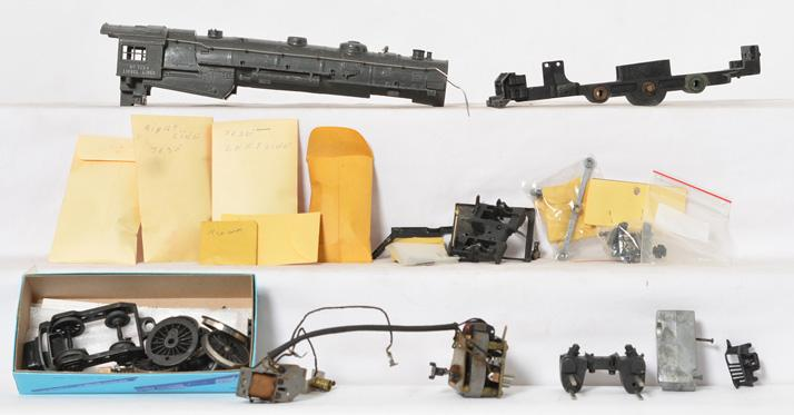 Disassembled Lionel 763-E gray locomotive