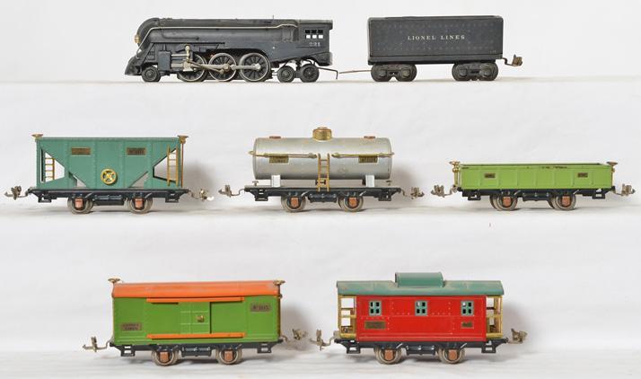 Lionel 221 steam locomotive 1689W, 805, 902, 804, 807