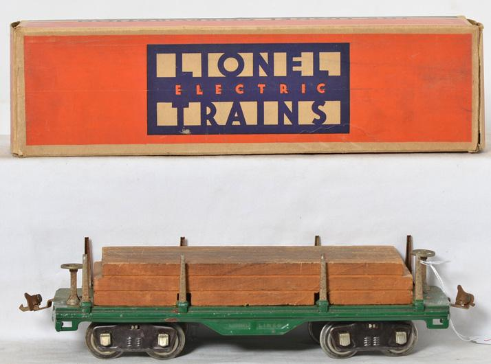 Lionel Standard Gauge Lumber Car with Original Box