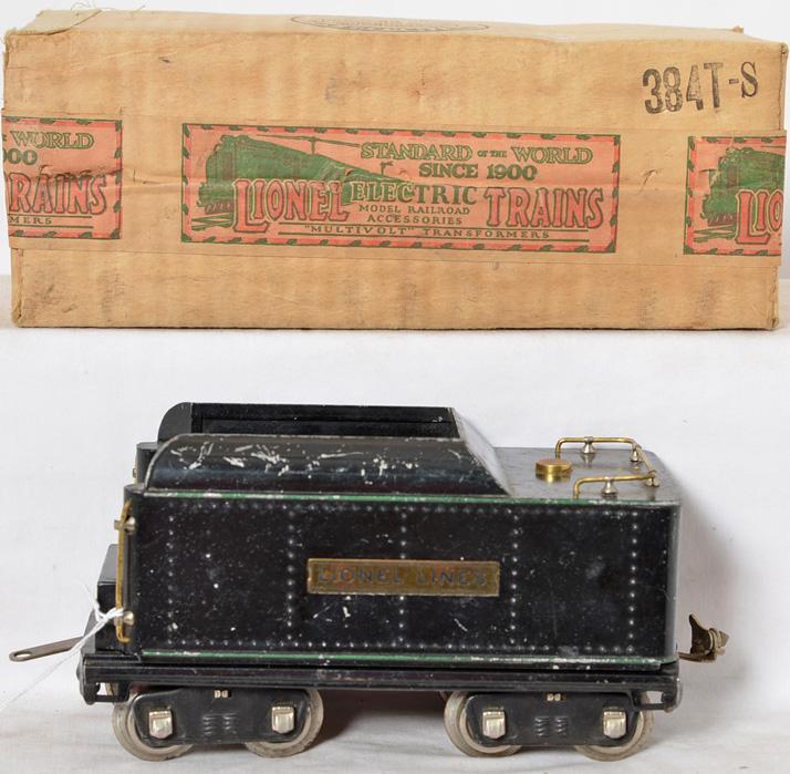 Lionel Prewar Standard Gauge 384T Tender with original box