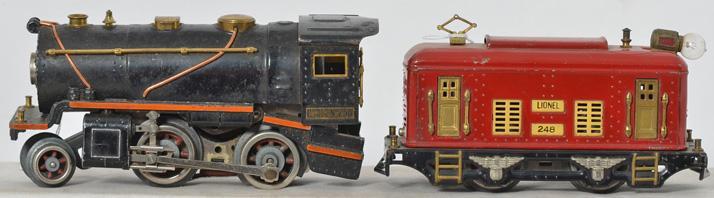Lionel Prewar 258 Steam Locomotive 248 Locomotive.
