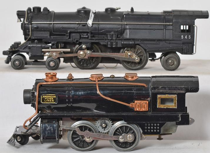 American Flyer Prewar 545 Locomotive and 1121 Locomotive w/ Whistle
