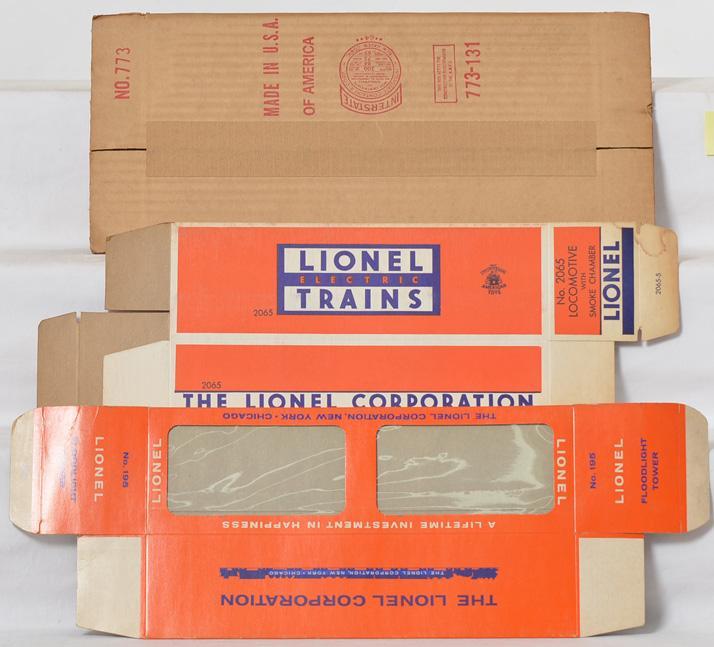 Lionel Postwar Empty Boxes 773, 2065 and 195
