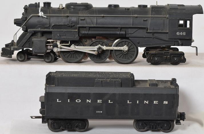 Lionel Postwar 646 Locomotive and 233W Tender