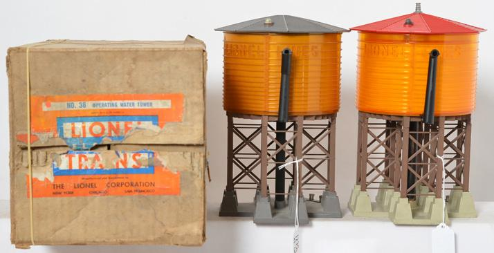 Lionel 30 and 38 water towers with one box