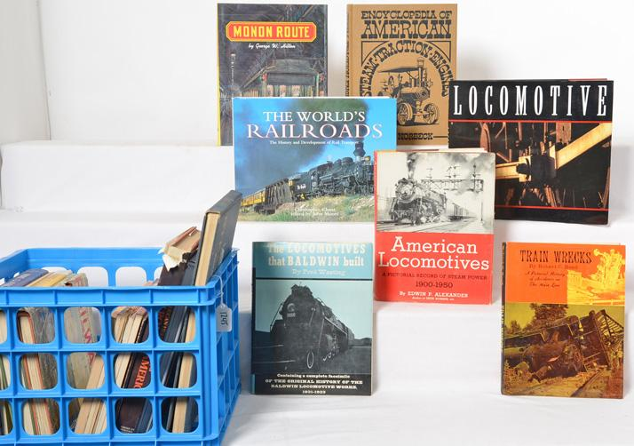 20 railroad books Monon, Baldwin locos, steam locomotives, and more