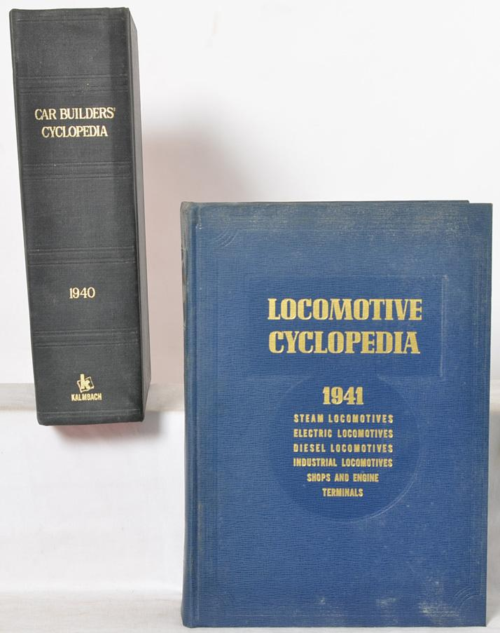 1941 Locomotive Cyclopedia and 1940 Car Builders cyclopedia reprints