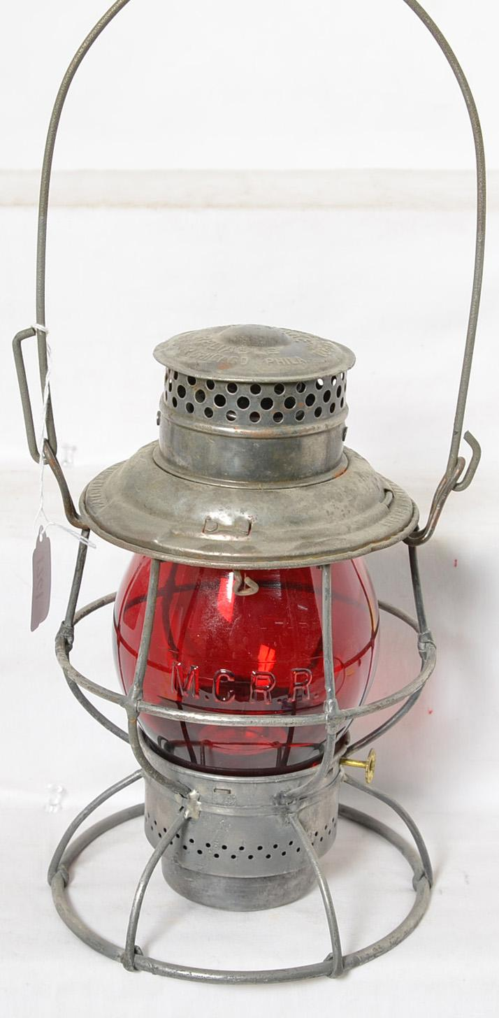 Adlake Baltimore and Ohio locomotive lantern with incorrect red globe