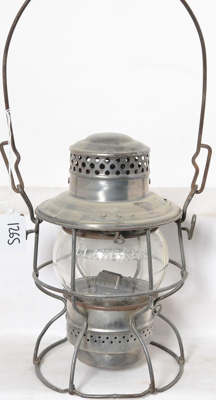 Adlake Kero clear globe Illinois Central railroad lantern