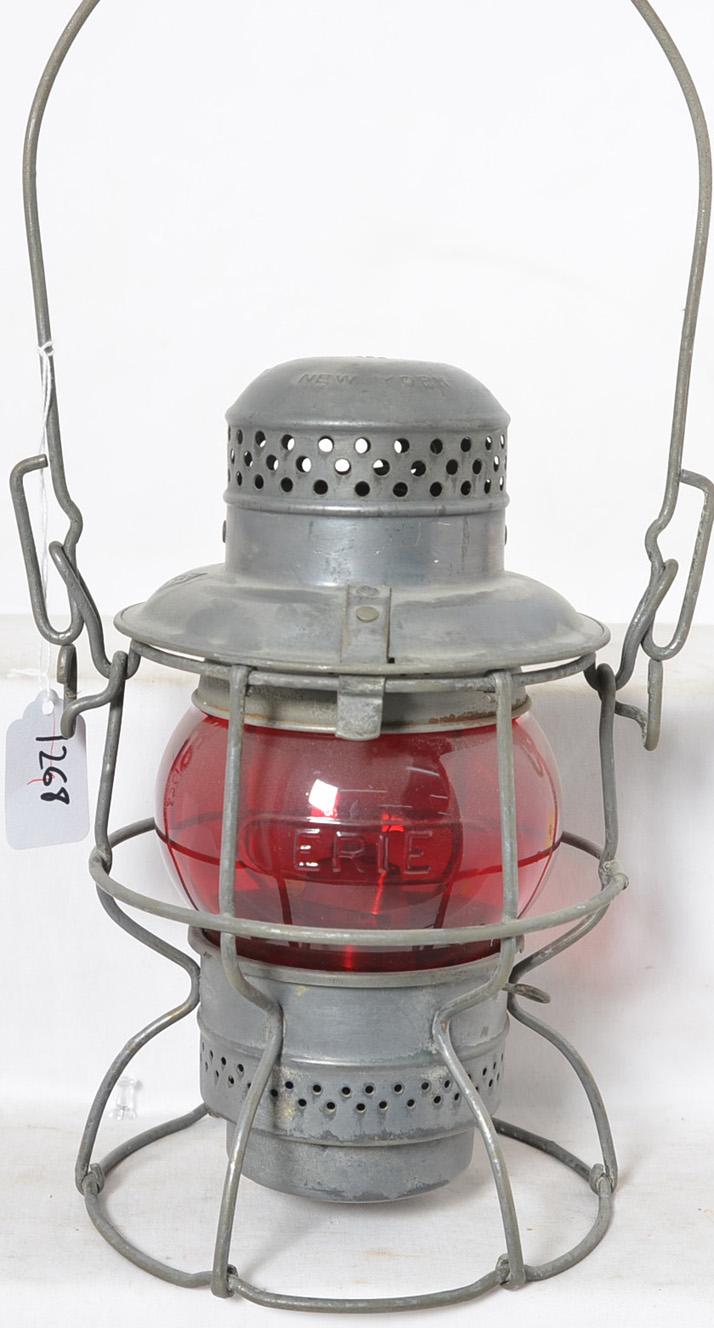 Armspear Erie railroad cast red globe lantern