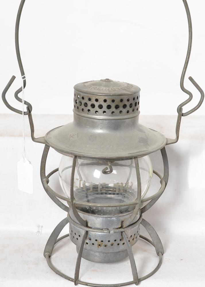 Dressel Erie Railroad clear globe lantern with etched globe