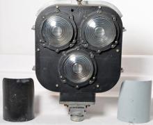 Safetran tri light railroad signal