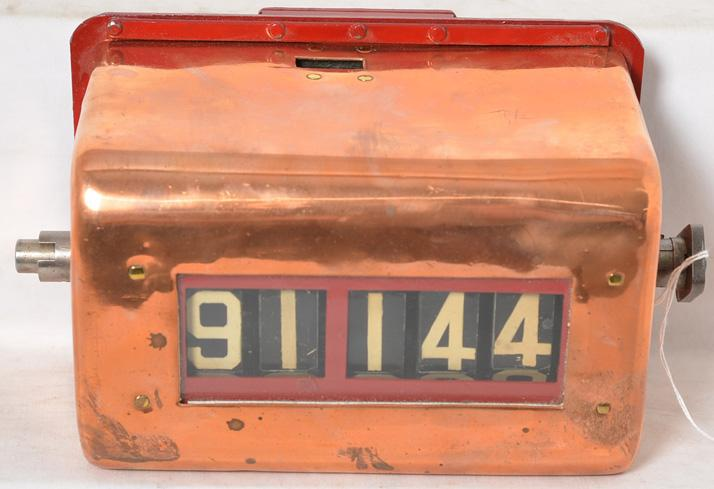 Very nice copper and steel trolley / bus passenger counter