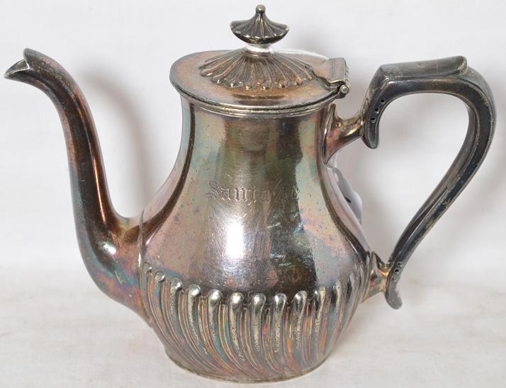 Santa Fe Gorham railroad 10 oz soldered silver tea / coffee pot