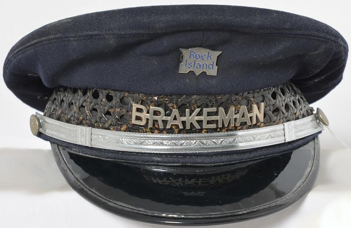 Rock Island railroad brakeman cap size 7 Carlson and Company