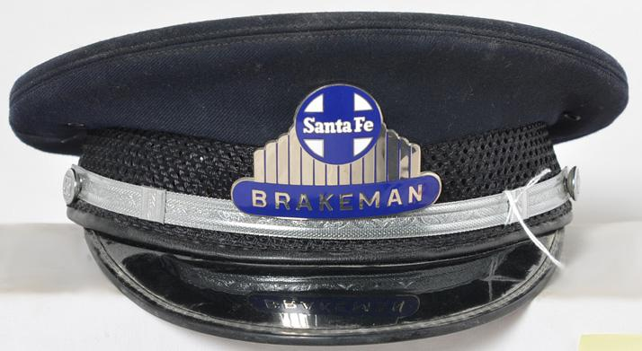 Santa Fe railroad Brakemans cap - AG Meier size 7 1/8th railroadiana