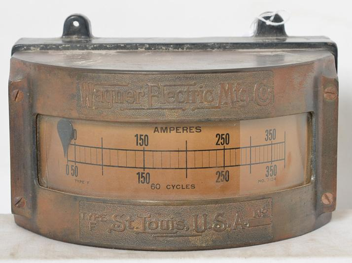 Wagner Electric Manufacturing Co. type F locomotive ammeter