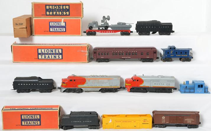 Lionel 6027, 2628, 2243T, 218, 6803, and more including tenders and shells