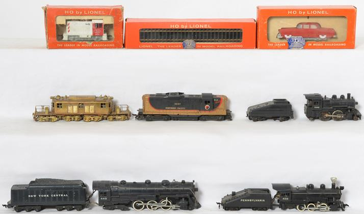 Lionel, Gilbert, and Brass HO locomotives and more