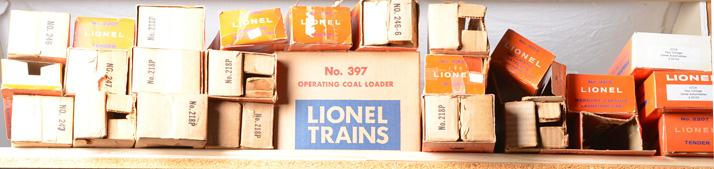Huge lot of Lionel postwar trains and boxes 2343P, 671, 2056, 2036, etc