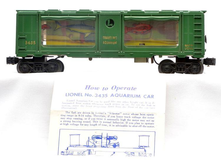 LIONEL # 3435 AQUARIUM CAR INSTRUCTIONS ORIGINAL