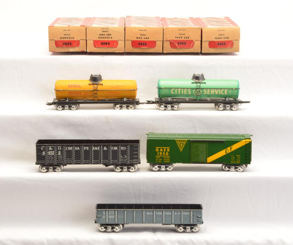 Lot 2542: Marx Scale Freight Cars 254000 44572 1950 652 2532 MINT Boxed