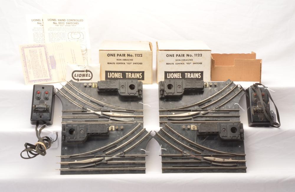 Lionel Postwar 1122 027 Gauge Remote Switch Pair W ... on