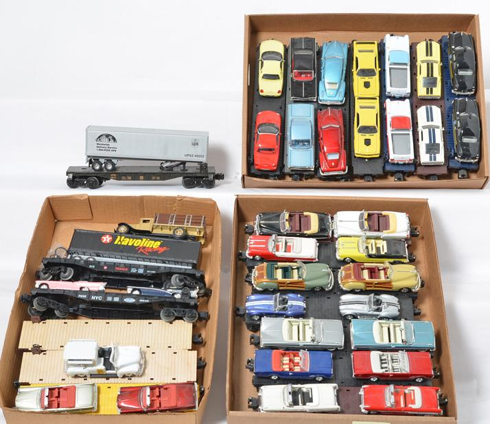 20 Model Train Sales Flat Cars with Vehicle Loads