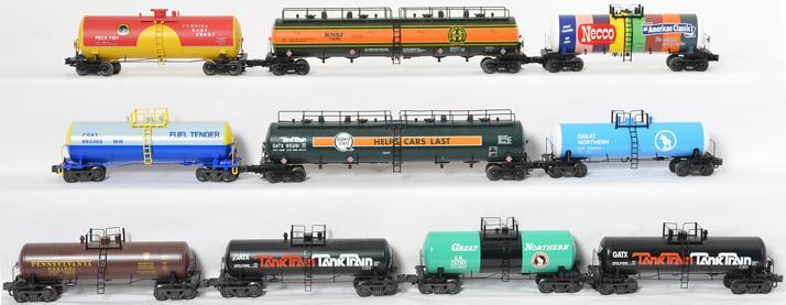 10 K Line, MTH Modern O gauge tank cars