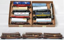 11 Lionel Flat Cars with Trailer Loads