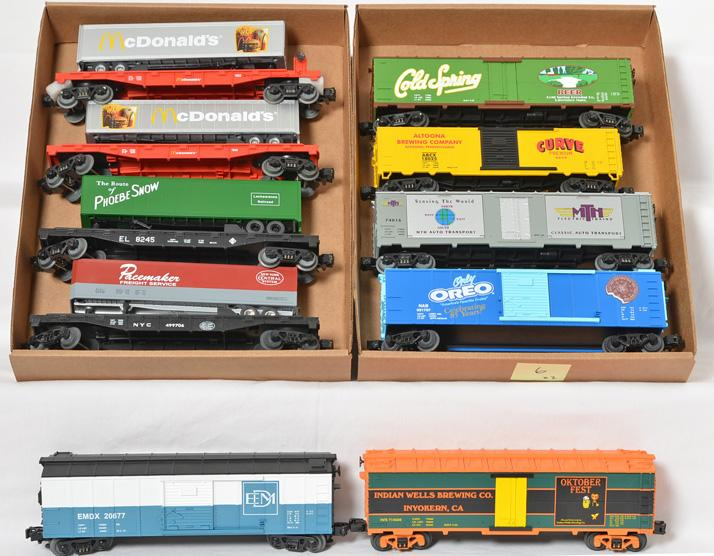 10 MTH Freight Cars, 78020, 7401, 74016